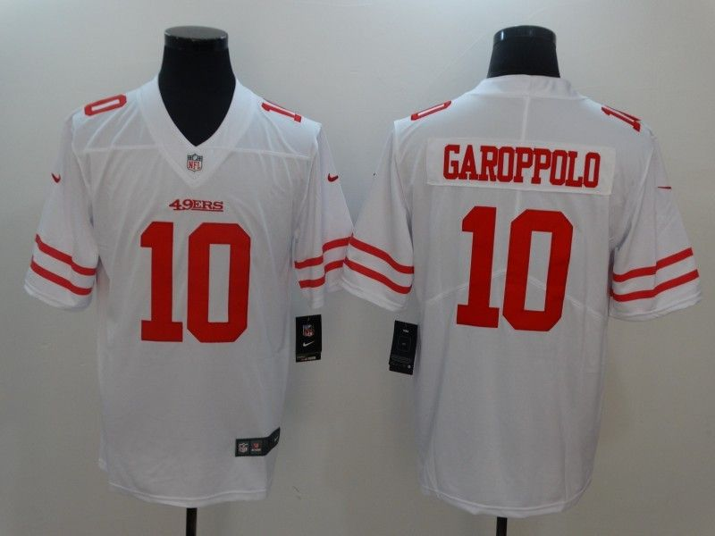 Mens San Francisco 49ers #10 Jimmy Garoppolo White Vapor Untouchable Limited Jersey