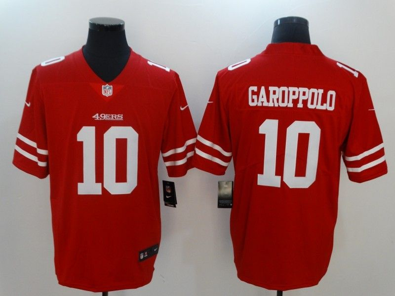 Mens San Francisco 49ers #10 Jimmy Garoppolo Red Vapor Untouchable Limited Jersey