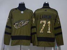 Mens Nhl Detroit Red Wings #71 Dylan Larkin Green Adidas Hockey Jersey