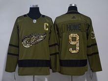 Mens Nhl Detroit Red Wings ##9 Howe Green Adidas Hockey Jersey