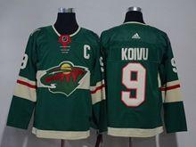Mens Nhl Minnesota Wild #9 Mikko Koivu Green Home Premier Adidas Jersey