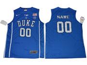 Mens Ncaa Nba Duke Blue Devils Custom Made Blue Jersey