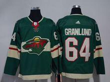 Mens Nhl Minnesota Wild #64 Granlund Green Home Premier Adidas Jersey