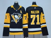 Youth Women Nhl Pittsburgh Penguins #87 Sidney Crosby Black Adidas Jersey