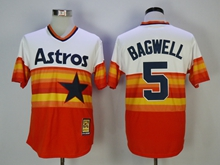 Mens Mlb Houston Astros #5 Bagwell Iridescent Cool Base Pullover Jersey