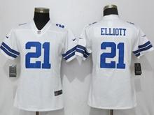 Women Nfl Dallas Cowboys #21 Ezekiel Elliott White Vapor Untouchable Elite Jersey