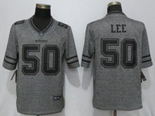 Mens Nfl Dallas Cowboys #50 Sean Lee Gray Stitched Gridiron Limited Jersey