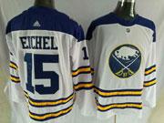 Mens Nhl Buffalo Sabres #15 Jack Eichel White Adidas Jersey