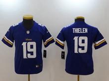 Youth Nfl Minnesota Vikings #19 Adam Thielen Purple Vapor Untouchable Elite Jersey