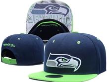 New Mens Nfl Seattle Seahawks Blue Snapback Hats