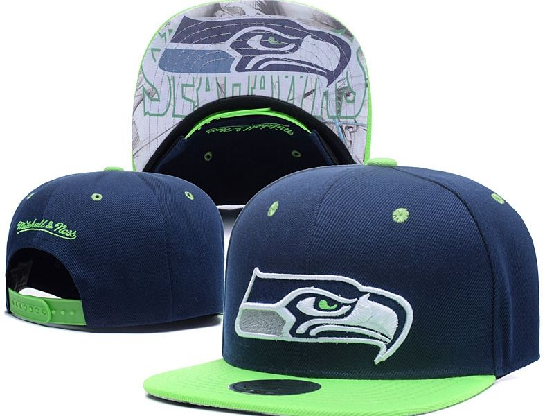New Mens Nfl Seattle Seahawks Blue Snapback Hats