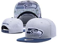 New Mens Nfl Seattle Seahawks Gray Snapback Hats