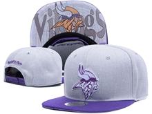 New Mens Nfl Minnesota Vikings Gray Snapback Hats