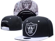 New Mens Nfl Oakland Raiders Black Snapback Hats