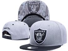 New Mens Nfl Oakland Raiders Gray Snapback Hats