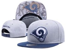New Mens Nfl Los Angeles Rams Gray Snapback Hats