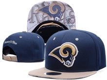 New Mens Nfl Los Angeles Rams Blue Snapback Hats
