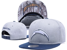New Mens Nfl Los Angeles Chargers Gray Snapback Hats