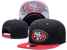 New Mens Nfl San Francisco 49ers Black Snapback Hats