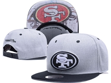 New Mens Nfl San Francisco 49ers Gray Snapback Hats