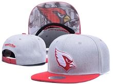 New Mens Nfl Arizona Cardinals Gray Snapback Hats