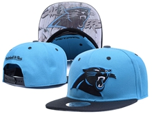 New Mens Nfl Carolina Panthers Blue Snapback Hats