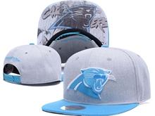 New Mens Nfl Carolina Panthers Gray Snapback Hats