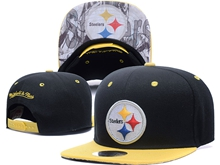 New Mens Nfl Pittsburgh Steelers Black Snapback Hats