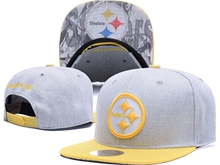 New Mens Nfl Pittsburgh Steelers Gray Snapback Hats