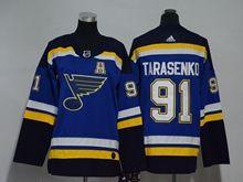 Youth Women Nhl St.louis Blues #91 Vladimir Tarasenko Blue Adidas Jersey A Patch