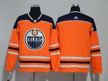 Mens Youth Nhl Edmonton Oilers Blank Orange Adidas Jersey