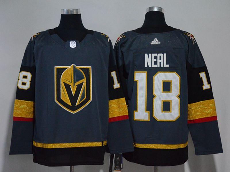 Mens Nhl Vegas Golden Knights #18 James Neal Gray Hockey Adidas Jersey