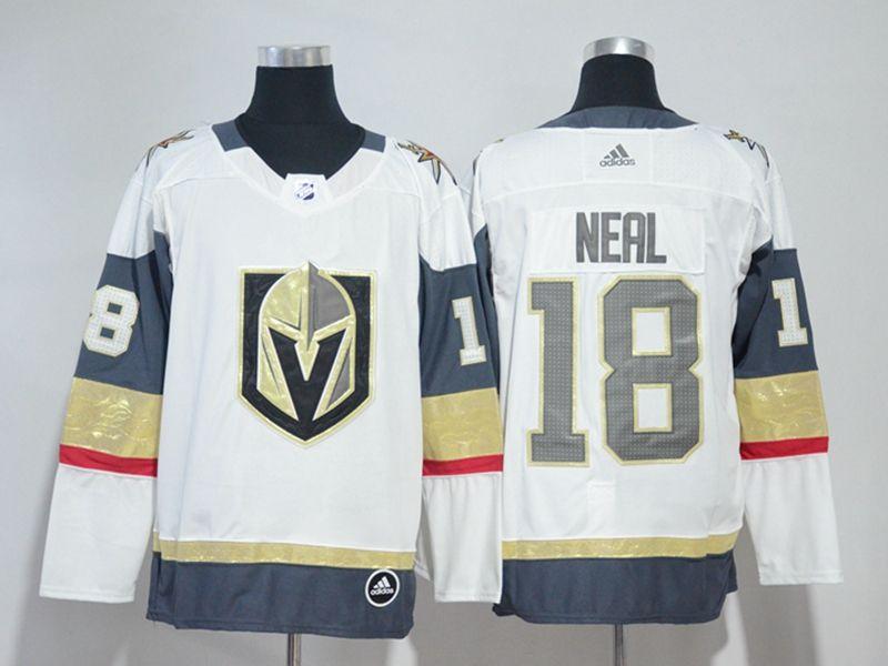 Mens Nhl Vegas Golden Knights #18 James Neal White Hockey Adidas Jersey