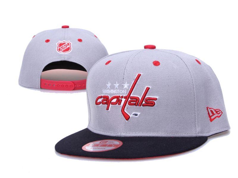 New Mens Nhl Washington Capitals Gray Snapback Hats
