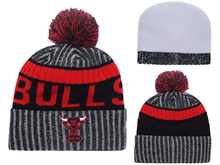 Mens Nba Chicago Bulls Beanies Hats Pom On Top