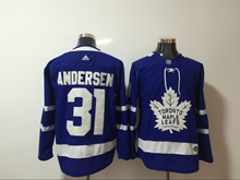 Mens Adidas Nhl Toronto Maple Leafs #31 Frederik Andersen Blue Home Hockey Jersey