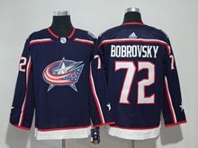 Mens Nhl Columbus Blue Jackets #72 Sergei Bobrovsky Blue Adidas Jersey