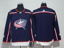 Mens Youth Women Nhl Columbus Blue Jackets (custom Made) Blue Adidas Jersey