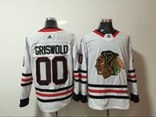 Mens Nhl Chicago Blackhawks #00 Griswold White Home Premier Adidas Jersey