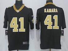 Mens Nfl New Orleans Saints #41 Alvin Kamara Black Vapor Untouchable Limited Jersey