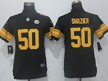 Womens Nfl Pittsburgh Steelers #50 Ryan Shazier Black Vapor Untouchable Elite Jersey