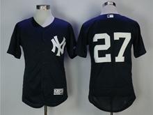 Mens Mlb New York Yankees #27 Giancarlo Stanton Blue Flex Base Jersey