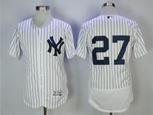 Mens Mlb New York Yankees #27 Giancarlo Stanton White Flex Base Jersey