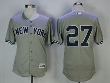 Mens Mlb New York Yankees #27 Giancarlo Stanton Gray Flex Base Jersey