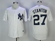 Mens Mlb New York Yankees #27 Giancarlo Stanton White Cool Base Jersey