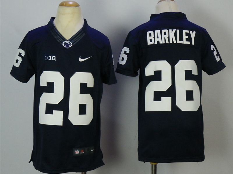 Youth Ncaa Washington State Cougars #26 Barkley Blue Jersey