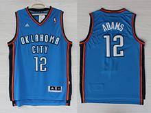 Mens Nba Oklahoma City Thunder #12 Steven Adams Blue Adidas Jersey