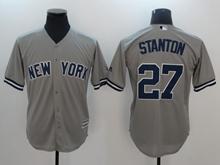Mens Mlb New York Yankees #27 Giancarlo Stanton Gray Cool Base Jersey