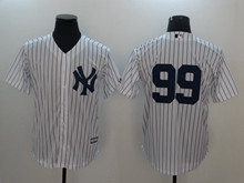 Mens Mlb New York Yankees #99 Aaron Judge White Cool Base Jersey