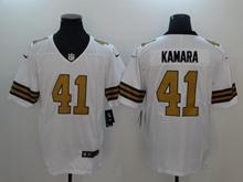 Mens New Orleans Saints #41 Alvin Kamara White Gold Number Vapor Untouchable Limited Jersey
